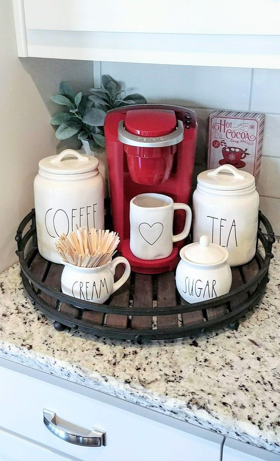 12 Creative Coffee Bar Ideas For The Kitchen Counter ...