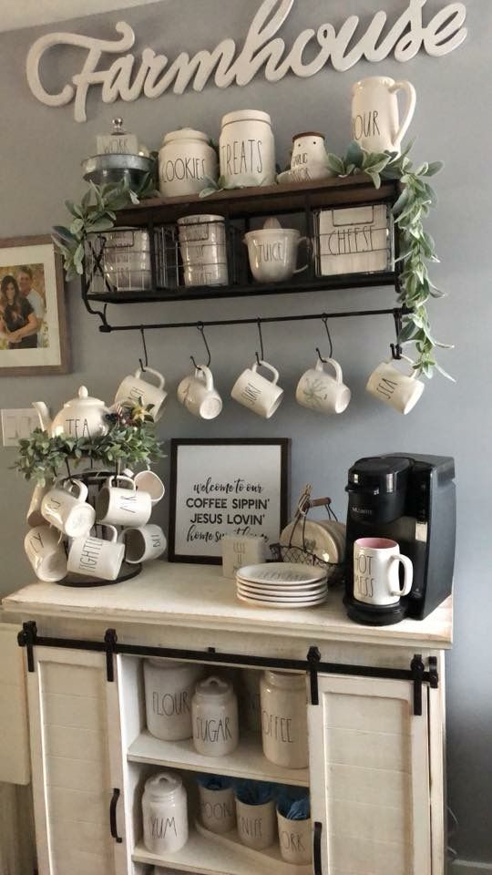 Farmhouse Style Coffee Serving Station Ideas For the ...