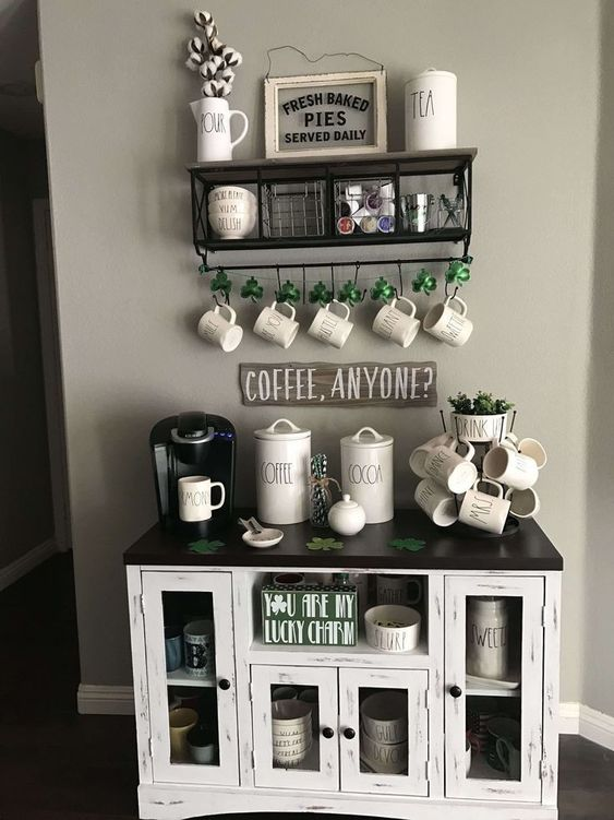 Coffee Corner Ideas For The Home In A Farmhouse Style