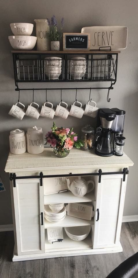 Coffee Corner Ideas For The Home In A Farmhouse Style Decorating Ideas And Accessories For The Home Creative Ideas For Every Room