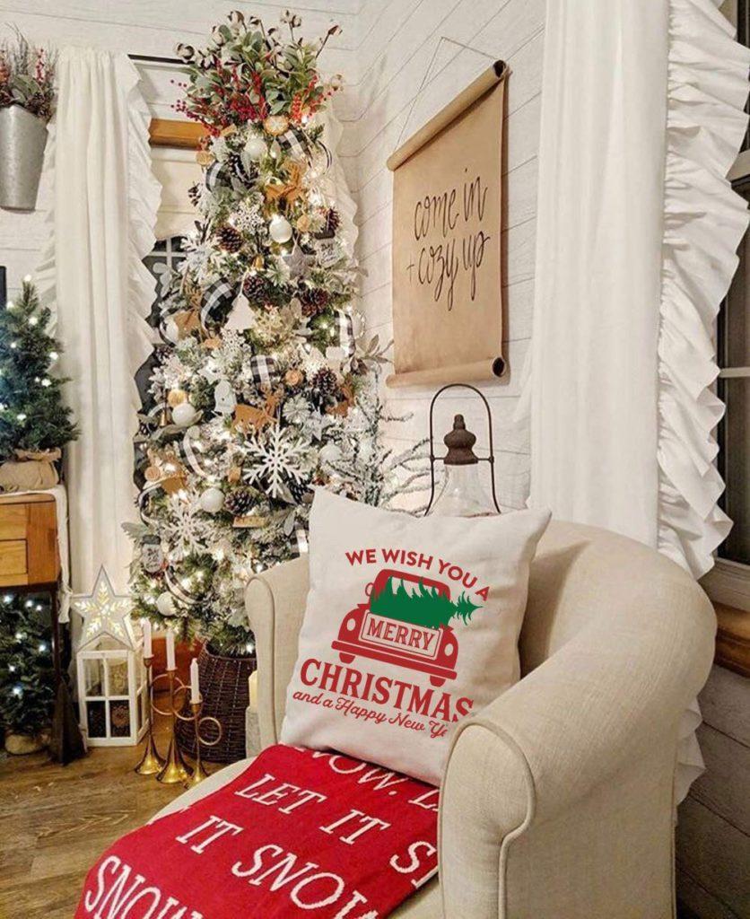 10 Modern Farmhouse Christmas Decorating Ideas For The Home Farmhouse Charm Decorating Ideas And Accessories For The Home Creative Ideas For Every Room