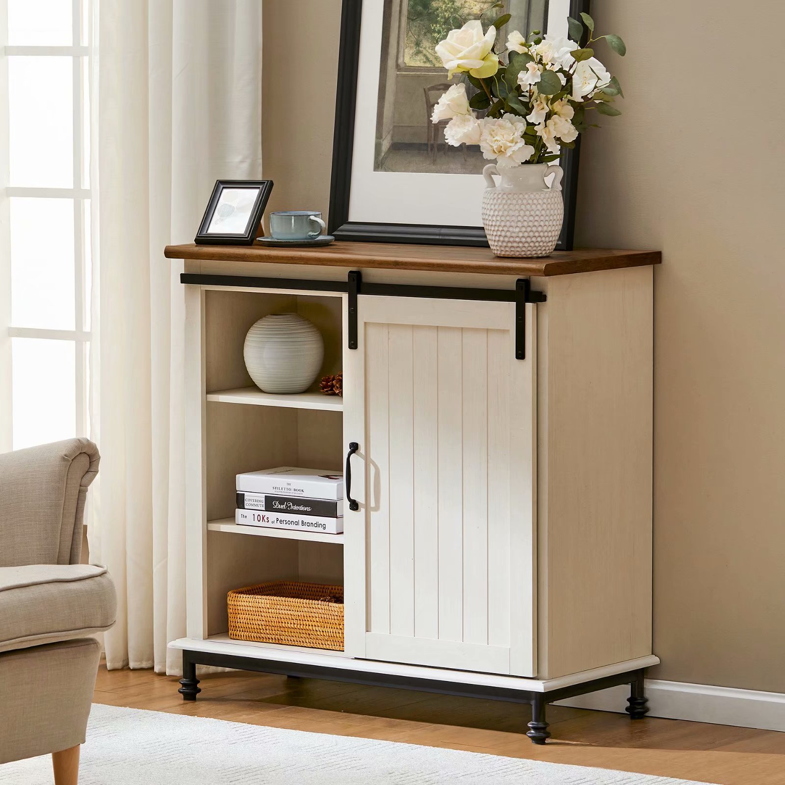 Solid Wood Accent Storage Cabinet Decorating Ideas And Accessories For The Home Creative Every Room